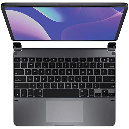 Brydge 12.9 Pro+ Wireless Keyboard with Trackpad for iPad Pro 12.9-inch (2020 & 2018) | Aluminum Wireless Bluetooth 5.0 Keyboard | Native Multi-Touch Trackpad | Backlit Keys | (Space Gray)