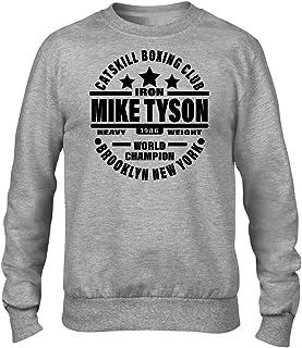 Iron Mike Tyson Catskill Boxing Club Premium Men's Grey Crew Sweatshirt