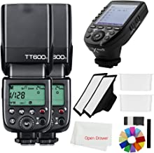 Godox 2X TT600S 2.4G HSS Thinklite Camer Flash Speedlite Built in Godox X System Receiver Wireless GN60 Master/Slave Camera with Xpro-S Trigger Transmitter Compatible Sony Camera