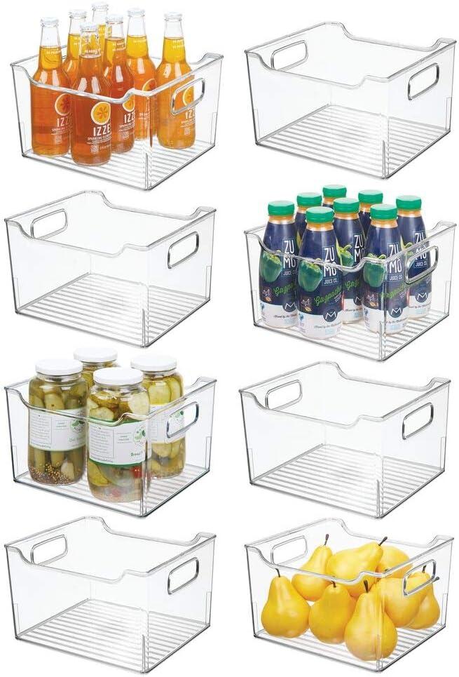 Max 70% OFF mDesign Nashville-Davidson Mall Plastic Kitchen Pantry Cabinet Refrigerator or Freezer