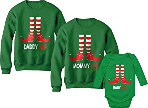 Dad, Mom & Baby Elf Santa's Helpers Christmas Matching Set Family Xmas Outfits