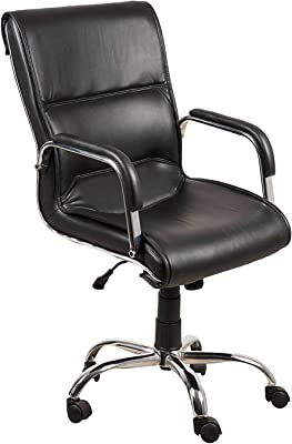 DZYN Furnitures Low Back Executive Chair, Black