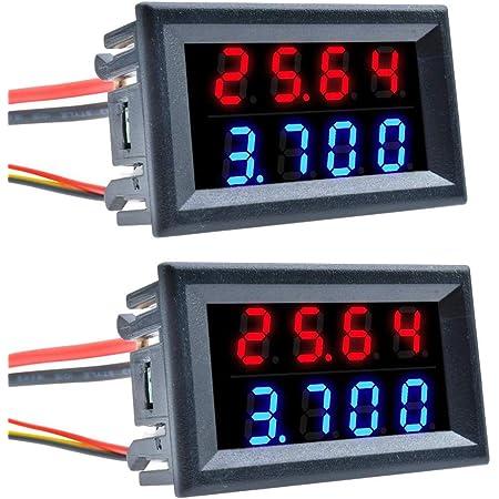 Zhiting 2 Stk Dual Display Volt Amp Voltmeter Elektronik