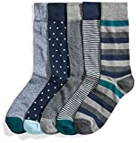 Goodthreads 5-Pack Patterned Socken, assorted green, Shoe Size: 8-12, 5er