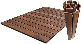 Roll Floor 11115 Outdoor Wooden Mini-Deck, 2' x 3', Brown