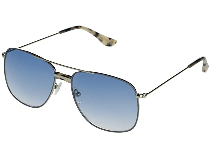 1960s Sunglasses | 70s Sunglasses, 70s Glasses Sam Edelman Metal Navigator SilverBlue Fashion Sunglasses $62.39 AT vintagedancer.com
