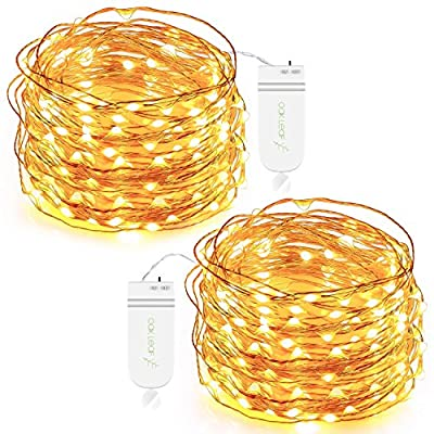 Oak Leaf 30-LED Fairy String Lights, Battery Op...