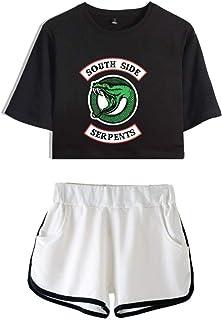Yueyue Riverdale Crop Top T-Shirt e Shorts Abbigliamento Completo per Ragazze e Donne