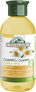 Corpore Sano Chamomile, Birch & Wheat BLONDE AND DELICATE HAIR SHAMPOO-HYPOALLERGENIC-Certified Organic Growing- 300 ml /1...