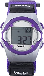 WobL Vibrating 8-Alarm & Repeating Countdown Timer Watch for Kids & Adults, Medication/Sports/Meetings/Potty Reminders, Pu...