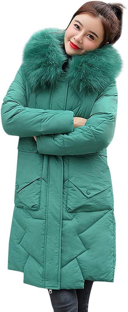 Women's Coat Long Sleeve Pocket Longline Winter Fall Warm Coat Overcoat Faux Fur Windbreaker Tops Jacket WEI MOLO