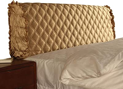 Bed Headboard Cover All-Inclusive Bedside Cover Bedside Backrest Dust Cover Protection Cover Bedroom Decoration Soft Comfortable Fabric (Color : Light Coffee, Size : 210cm)