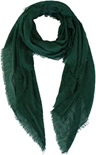 LMVERNA Women Wrinkle Scarf Crinkle Muslim Hijab Scarves Solid Color Long Wrap Scarf