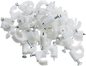100 unidades color blanco tyclip Rg6 6 MM Pinza para cables