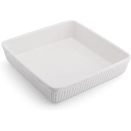 Mikasa Italian Countryside Square Baking Dish, White