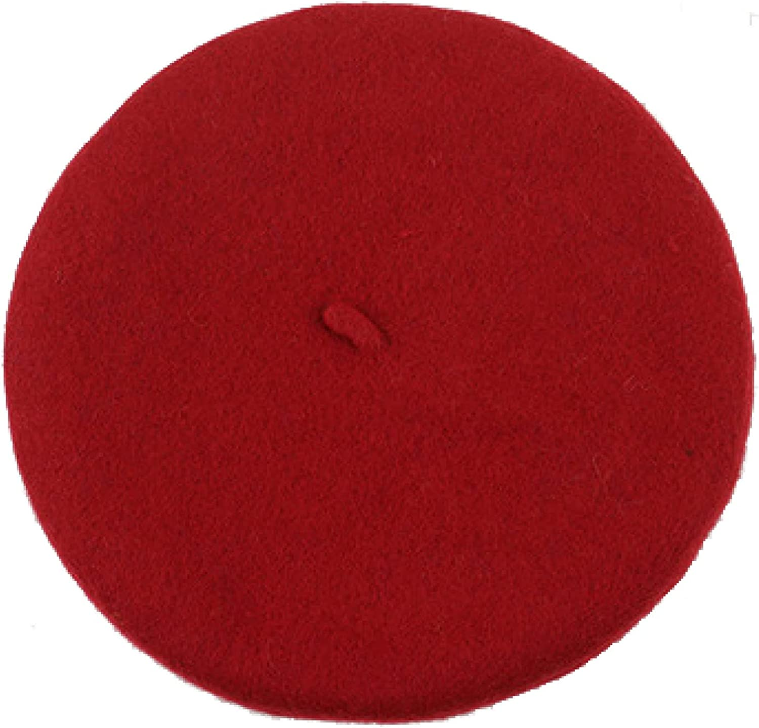AOBRICON 2 to 8 Years Old Kids Wool Beret Hats Autumn Winter Black Red Berets Girls Painter Hat