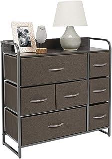 mDesign Cómoda para dormitorio con 7 cajones – Mueble con cajones ancho para el salón la habitación o el pasillo – Cajone...