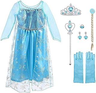 URAQT Vestido de Princesa Elsa, Reina Frozen Disfraz Elsa