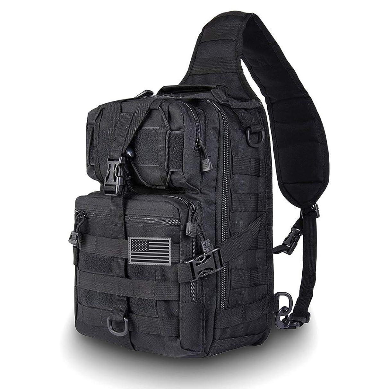 HAOMUK Tactical Sling Bag Pack Military Rover Shoulder Sling Backpack EDC Molle Assault Range Bag Everyday Out Carry Diaper Bag Carry Bag Small