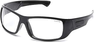 Pyramex Furix - Lentes de seguridad, Transparente, antivaho, negro, (Black Frame/Clear Anti-Fog)