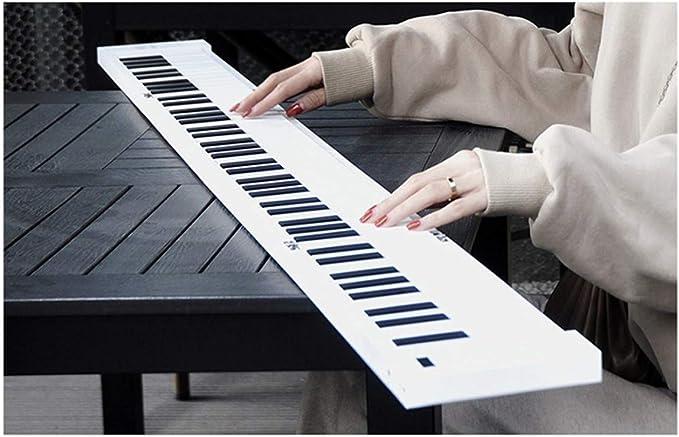 Teclados electrónicos Piano portátil 88 Teclado plegable mano ...