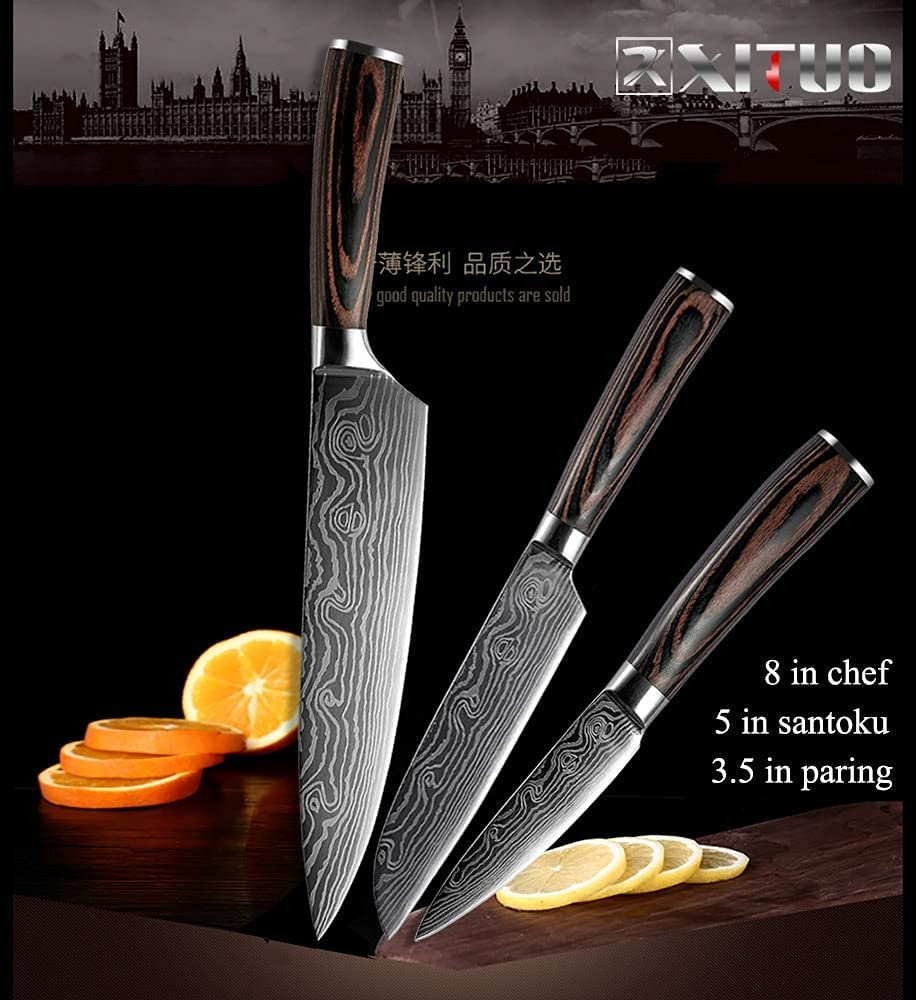 Knife Cleaver Chinese Chopping Stainless Limited price Max 45% OFF 2-5PCS Set Laser
