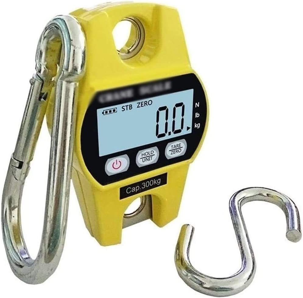 SHUKUILIUDT Balanza de Cocina Báscula Digital Escala Colgante Digital, 300 Kg/LB 660 Escalas Mini electrónicos for el pesaje de Cerdo Ganadería Ovejas (Color : B)