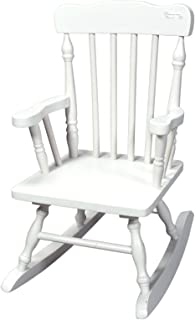 Gift Mark Colonial Rocking Chair, White