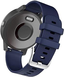 Siliconen Band Quick Release Vervanging Horlogeband, compatibel met Garmin Vivoactive 3 HR Galaxy Active 2 Polar Ignite Fo...