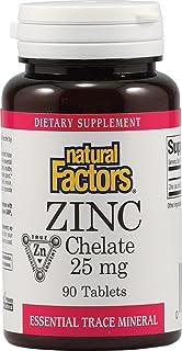 Natural Factors Zinc Chelate 25mg Tablets, 90 Count