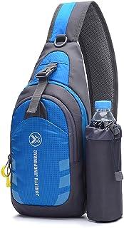 Sling Bag Chest Shoulder Backpack Crossbody Bag Bike Gym Hiking Casual Daypack for Men Women (Sling Chest Bag for Blue)