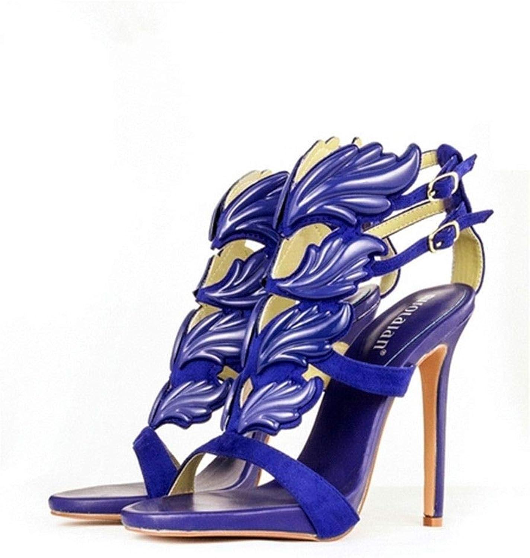 2019 Summer Brand Women Pumps Sexy High Heels Sandals Leaf Flame Women's shoes Peep Toe High Heels