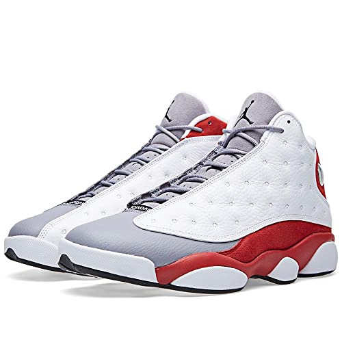 314b9a11bd76 Jordan Mens AIR JORDAN 13 RETRO White True Red Cement Grey Black SIZE