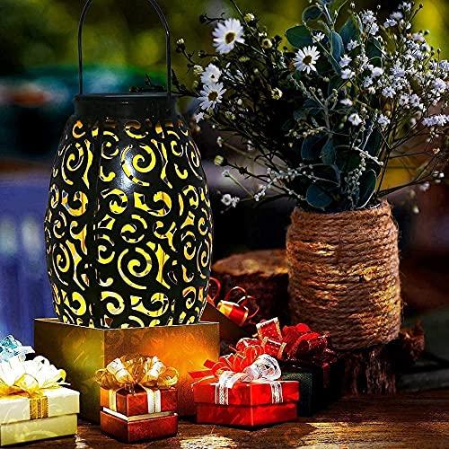 1 paquete de linternas para exteriores, linterna solar para Patio, luces colgantes, lámpara decorativa impermeable, decoración de mesa, decoración exterior, mesa