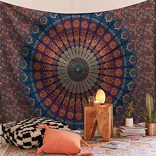 Tapiz de la serie India Mandala estética montaje en pared Tarot bruja tapiz manta bohemia tela colgante A15 150x200cm