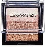 Makeup Revolution Vivid Shimmer Brick Highligher Palette Radiant Paleta rozświetlaczy i bronzerów