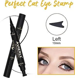 AVIERLL Eyeliner Pencil Print Double Head Quick Dry Waterproof Long Lasting Liquid Eyeliner-black (Left) Dual-End Smudgeproof Liquid Ultra-Fine Tip Eyeliner
