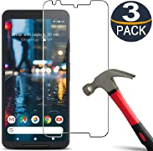 [3 Pack] Google Pixel 2 XL Screen Protector Tempered Glass [9H Hardness][Ultra Clear][Anti Scratch][Bubble Free] HD Clear Tempered Glass Screen-Protector Film for Google Pixel 2 XL 2017
