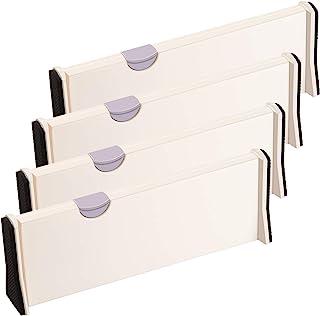 ARyee 4 pièces séparateurs de tiroir organisateurs de tiroir extensibles pour bureau, cuisine, tiroir, salle de bain, cham...