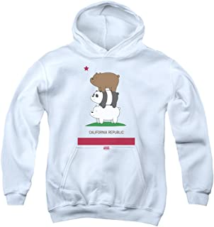 We Bare Bears Cali Stack Unisex Youth Pull-Over Hoodie for Boys and Girls