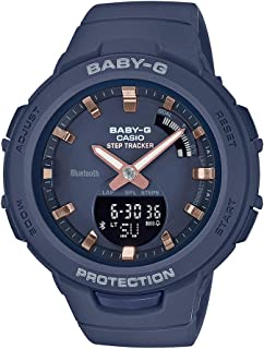 Casio Womens Quartz Watch, Analog-Digital Display and Resin Strap - BSA-B100-2ADR