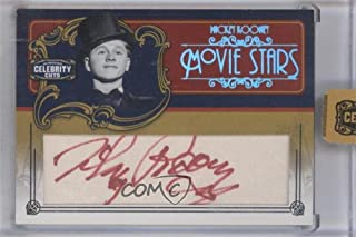 Mickey Rooney Manufacturer ENCASED Uncirculated #14/25 (Trading Card) 2008 Donruss Americana Celebrity Cuts - Movie Stars - Cut Signatures [Autographed] #MS-MR