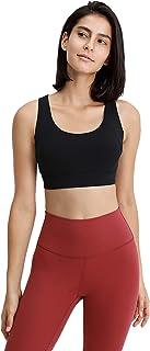 Women Yoga Bras, Sexy Shockproof Breathable Workout Gym Running Sports Yoga Bra,Black,12