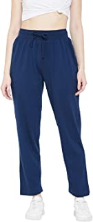 OKANE Women's Poly Cotton Solid Denim Comfort Track Pants