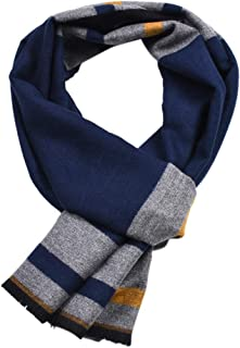 Uleade Mens Cotton Scarf - Cashmere Feel Classic Soft Warm Luxurious Winter Scarves For Men