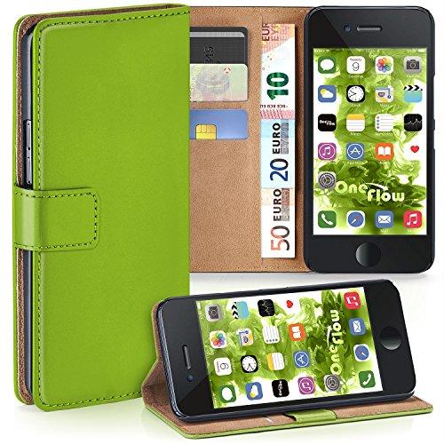 MoEx Premium Book-Hülle Handytasche kompatibel mit iPhone 6S / iPhone 6 | Handyhülle mit Kartenfach & Ständer - 360 Grad Schutz Handy Tasche, Grün
