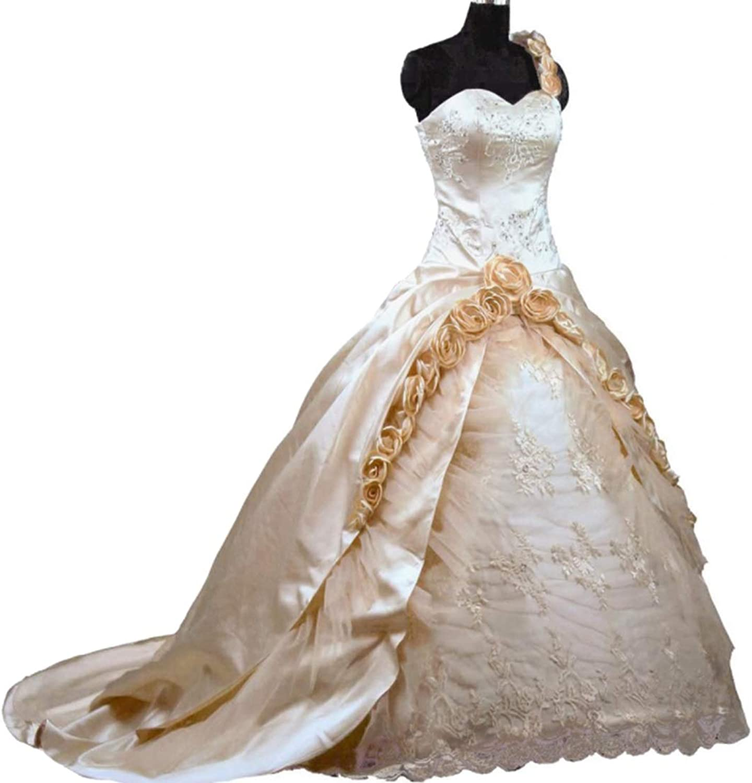 CTARCROW Elegant Womens One Shoulder Sleeveless Dress Sexy Midi Dress for Party Club