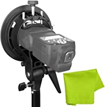 Godox S-Type Bracket Bowens Mount Holder for Speedlite Flash Snoot Softbox Honeycomb +CLOUDSFOTO Cleaning Cloth
