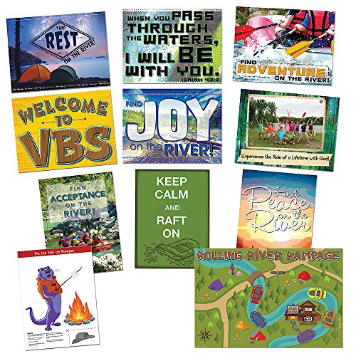 Vacation Bible School 2018 Rolling River Rampage Decorating Poster Pak: Experience the Ride of a Lifetime With God!