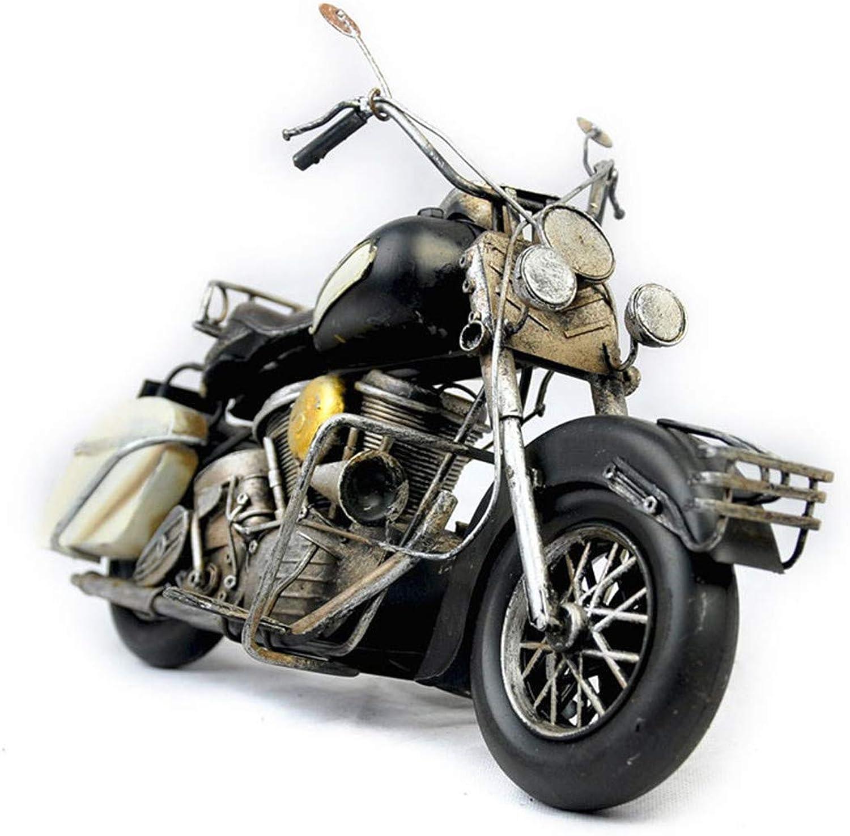 VJUKUB Antique Harley Motorradmodell Blech-Hand Gemachte Retro-Eisen-Kunst Haus Autodekoration Dekoration Arrangement Foto-Requisiten 36,5  17  21,5 cm